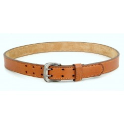 Leather Belt with double prongs