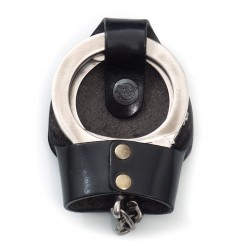 Leather Handcuff Case with Clip