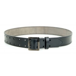 Black Leather Belt 45 mm with double prongs
